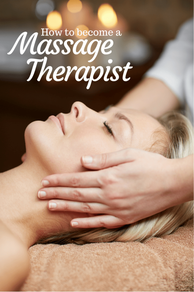 Client getting a relaxing massage. Text on the image says; How to become a massage therapist